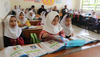 Afghanistan- Early Grade Reading students at Amir Ali Shir Nawayee Girls School, Herat